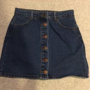 Button jean skirt
